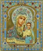 казанская икона божьей матери из серебра с филигранью