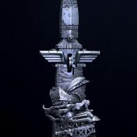 авторский нож на тему поезда, цена 2 млн рублей