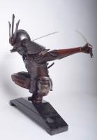 Самурай статуэтка из бронзы