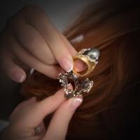 Кольцо трансформер с бриллиантами