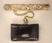 кошелёк сагемоно из крокодиловой кожи