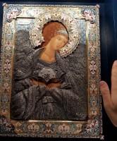 икона серебро ростовская финифть Селафиил