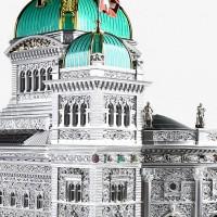 Швейцария модель здания парламента Берна Бандесхауз