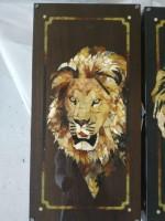 нарды Грозный лев (янтарь, морёный дуб)