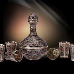 Мужской набор эксклюзивный (серебро, эмаль)
