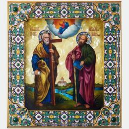 Икона святых покровителей Петра и Павла