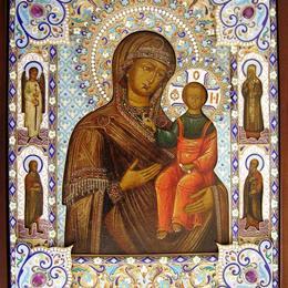 """Икона Божией матери """"Одигитрия"""" Смоленская-19 век"""