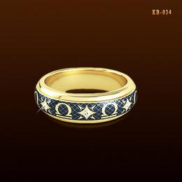 Весы - кольцо с эмалью