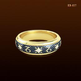 Козерог. Кольцо с эмалью