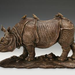 "Скульптура ""Носорог"" (бронза, 40 см)"