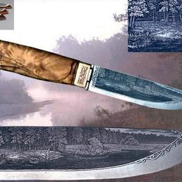 Новое поступление подарочных ножей с объемным рисунком