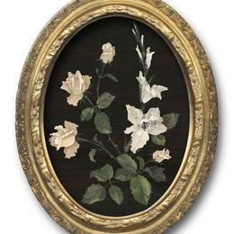 """Флорентийская мозаика """"Гладиолус и розы"""""""