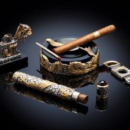 Набор для сигар 5 драконов (серебро, камни)