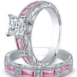 Кольца с розовыми сапфирами