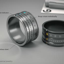Часы-кольцо - механический концепт