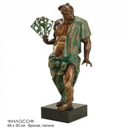 Скульптура Японский философ (бронза, высота 63 см)