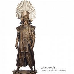 Большая скульптура из бронзы Самурай (h=120 см)