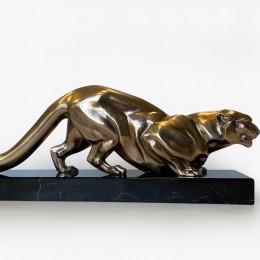 """Скульптура из бронзы """"Леопард"""""""