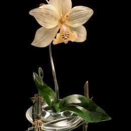 Орхидея (нефрит, цитрин, кварц)