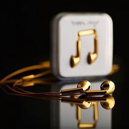 Счастливые наушники из 18-каратного золота от Happy Plugs