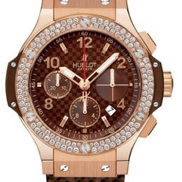 Hublot Big Bang 41mm Red Gold Cappuccino Diamonds