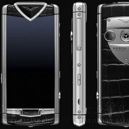 Vertu Constellation T Diamonds Black Alligator