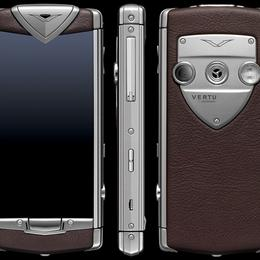 Vertu Constellation Brushed Stainless Steel Brown