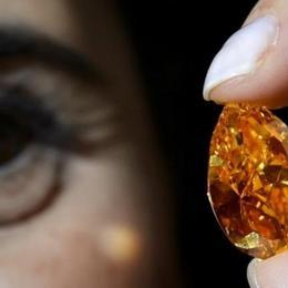 Оранжевый бриллиант весом 14,82 карата продается за рекордную цену 35,5 млн долларов