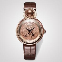 Часы «Lady 8» от Jaquet Droz с жемчугом и драгоценными камнями, подчеркивающими их изящество