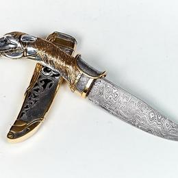 """Серебряный нож """"Конь"""""""