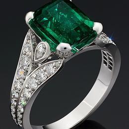 Кольцо с коллекционным изумрудом