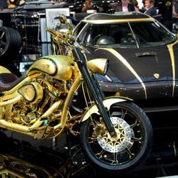 Инкрустированный бриллиантами и золотом Danish Chopper за $880,000 – самый дорогой мотоцикл