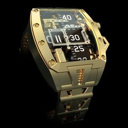 Уникальные позолоченные часы Devon Tread 2G с безелем