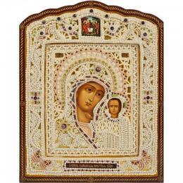 Фигурная икона Казанская Богоматерь (жемчуг)
