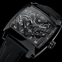 2014 Tag Heuer Monaco V4 – первые в мире часы, оснащенные ременным турбийоном