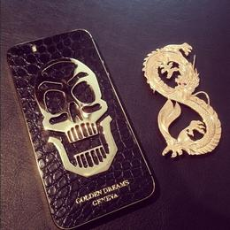 iPhone Goldеn Drеams Black Skull Gold