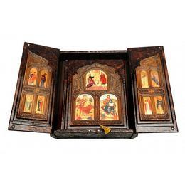 Библия в коробе иконостас -складень