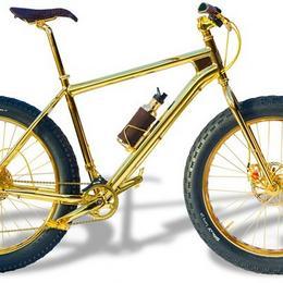 Самый дорогой горный велосипед, изготовленный из чистого золота, стоит $1 млн