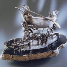 Казаки тянут лодку