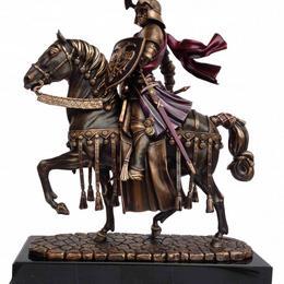 Скульптура рыцарь на коне (бронза, h=37 см)