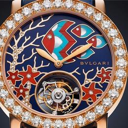 Инкрустированные бриллинтами часы Bvlgari Il Giardino Marino погрузят вас в мечты о море