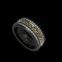 Черные золотые кольца