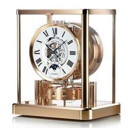 Jaeger Lecoultre предлагает третий вариант Atmos Classique Phases de Lune, выполненный из розового золота