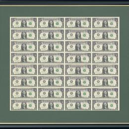 Лист 1 USD 32 штуки