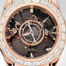 Инкрустированный бриллиантами хронометр Omega De Ville Central Tourbillon: вневременная классика