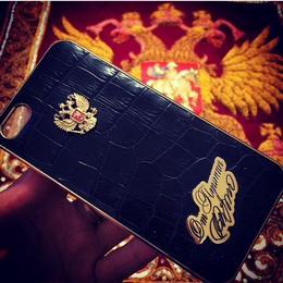 """Чехол для iPhone 11 """"от Путина"""" (серебро, эмаль)"""