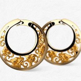 Серьги-кольца JAZMÍN