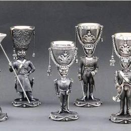 12 Рюмок Царская армия (серебро)
