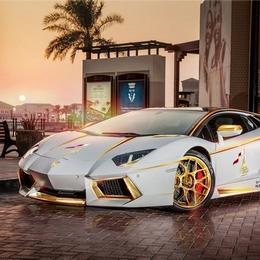 Единственный позолоченный Lamborghini Aventador Roadster, посвященный Национальному дню Катара