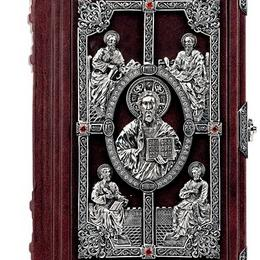 Библия с серебром и цирконами